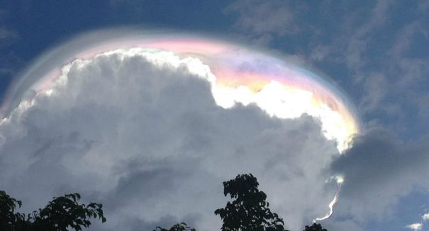 Spectacular heaven-like cloud formation spotted over Costa Rica