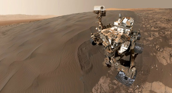 The Mars Curiosity rover is firing its lasers