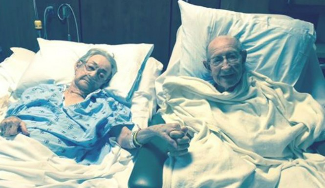 Couple married nearly 70 years re-united in hospital together