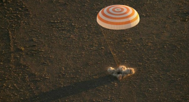 Touchdown: Astronauts are on the ground