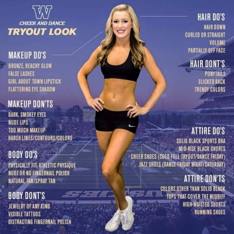 Firestorm erupts over UW's ideal cheerleader flyer
