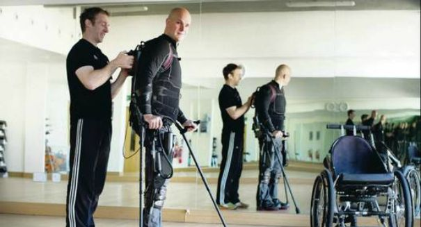 Breakthrough: A paralyzed man is now walking thanks to a 'Robotic Exoskelton'