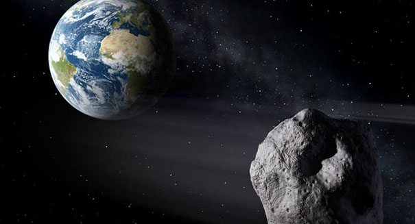 Massive asteroid speeding near Earth