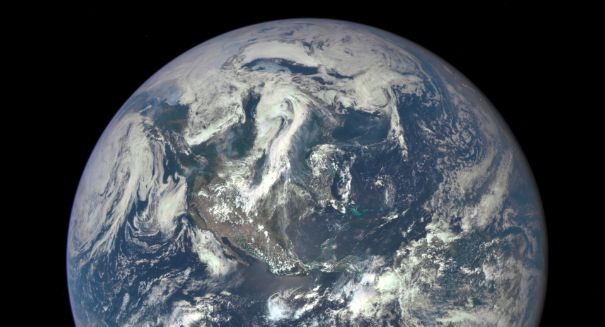 Defective NOAA weather satellite transmitted remarkable Earth images