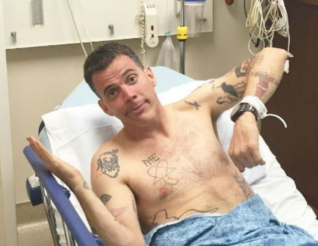 Steve-O hospitalized following skateboarding accident