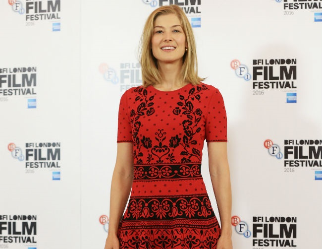 Rosamund Pike believes in love at first sight