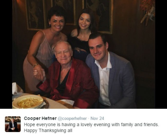 Hugh Hefner returns to Twitter with new update