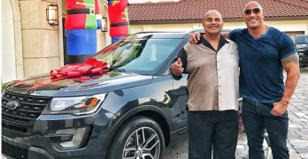 Dwayne Johnson buys his father a brand new car