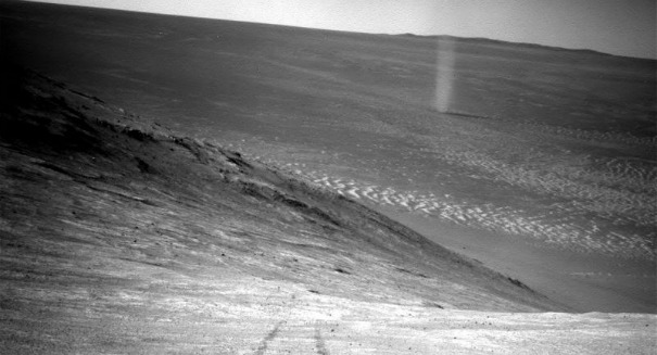 Stunning picture: Huge dust devil chases Mars Opportunity Rover