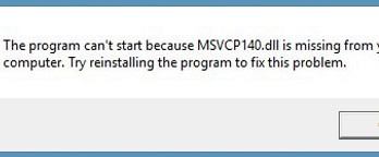"How can I fix ""Msvcp140.dll Missing "" error on Windows?"
