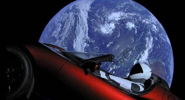 Big, stupid controversy erupts over Tesla Roadster in space